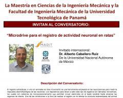 """Conversatorio: """"Microdrive para el registro de actividad neuronal en ratas"""""""